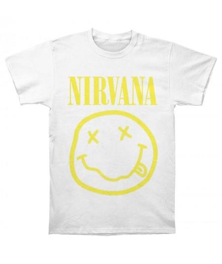 Tricou Unisex Nirvana: Yellow Smiley