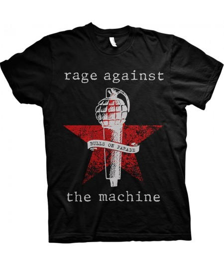 Tricou Unisex Rage Against The Machine: Bulls On Parade Mic