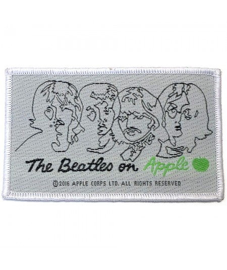 Patch The Beatles: On Apple (Black on White)