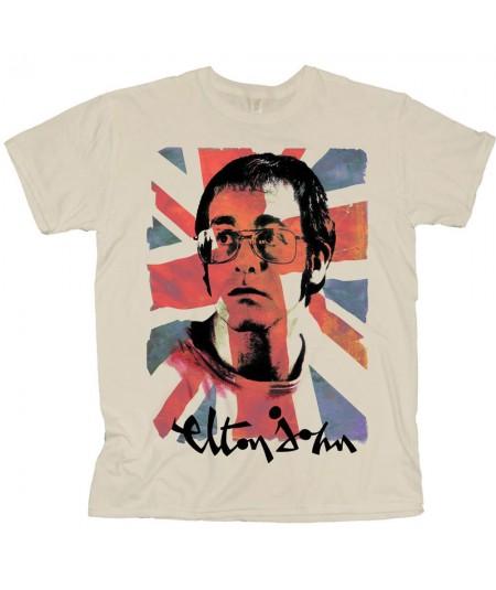 Tricou Unisex Elton John: Union Jack