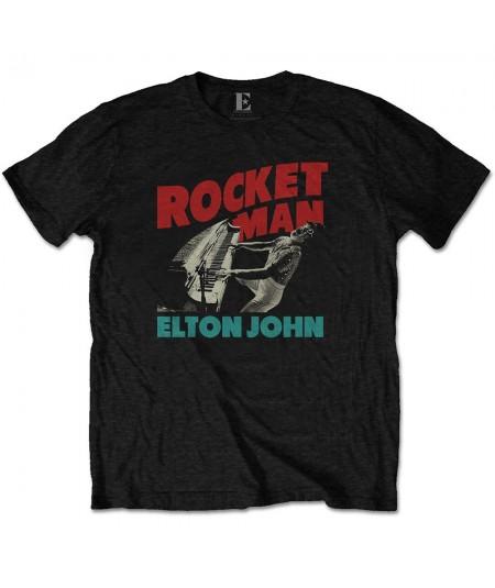 Tricou Unisex Elton John: Rocketman Piano