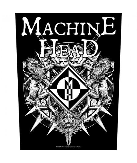 Back Patch Machine Head: Crest