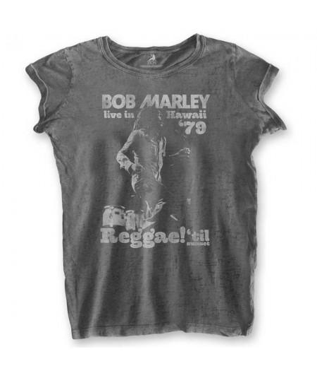 Tricou Burn Out de Dama Bob Marley: Hawaii