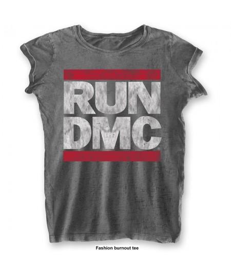 Tricou Burn Out de Dama Run DMC: DMC Logo