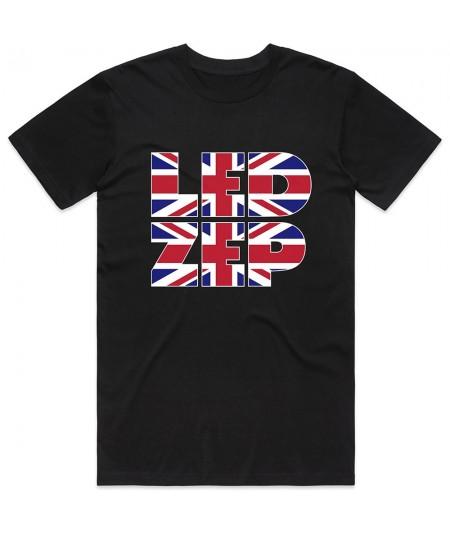 Tricou Unisex Led Zeppelin: Union Jack Type