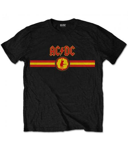 Tricou Unisex AC/DC: Logo & Stripe