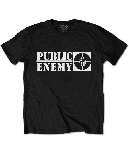Tricou Unisex Public Enemy: Crosshairs Logo