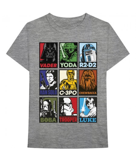 Tricou Unisex Star Wars: Character Squares