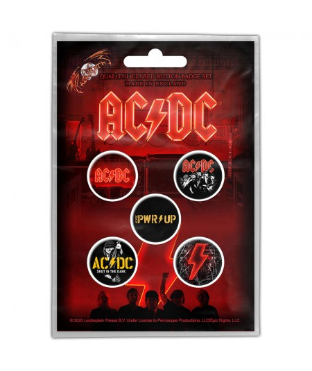 Set Insigne AC/DC: PWR-UP