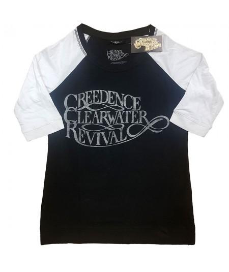 Tricou Dama cu Maneca 3/4 Creedence Clearwater Revival: Vintage Logo