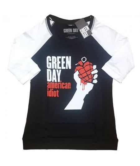 Tricou Dama cu Maneca 3/4 Green Day: American Idiot