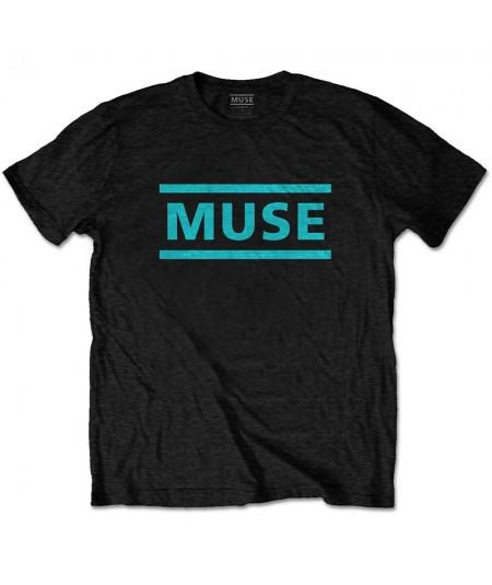 Tricou Unisex Muse: Light Blue Logo