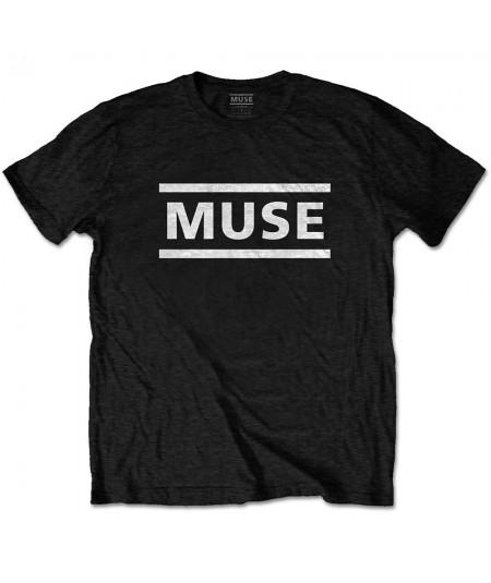 Tricou Unisex Muse: White Logo