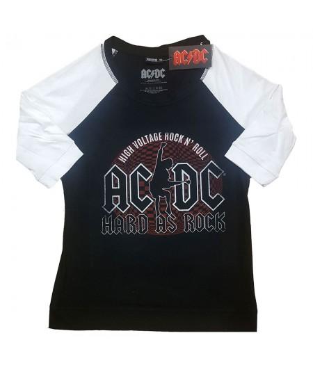 Tricou Dama cu Maneca 3/4 AC/DC: Hard As Rock