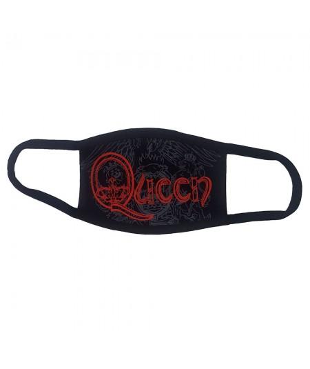 Masca Queen: Red Retro Logo