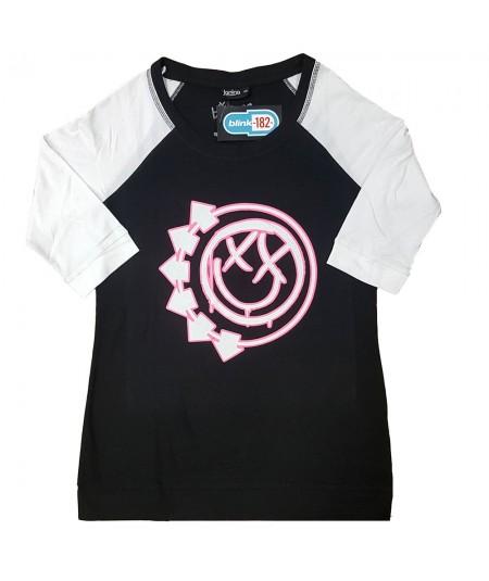 Tricou Dama cu Maneca 3/4 Blink-182: Six Arrow Smiley
