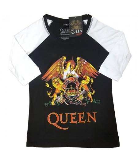 Tricou Dama cu Maneca 3/4 Queen: Classic Crest