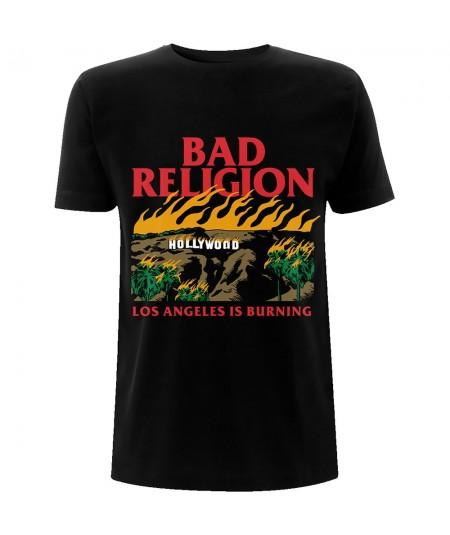 Tricou Unisex Bad Religion: Burning Black