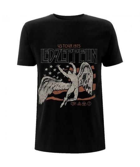 Tricou Unisex Led Zeppelin: US 1975 Tour Flag