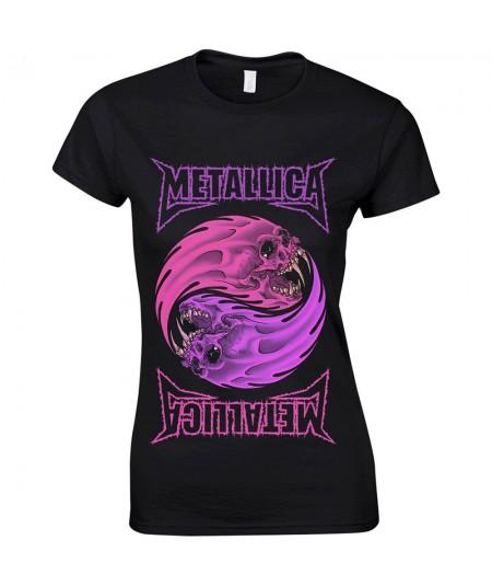 Tricou Dama Metallica: Yin Yang Purple