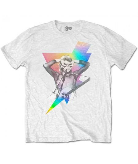 Tricou Unisex David Bowie: Holographic Bolt