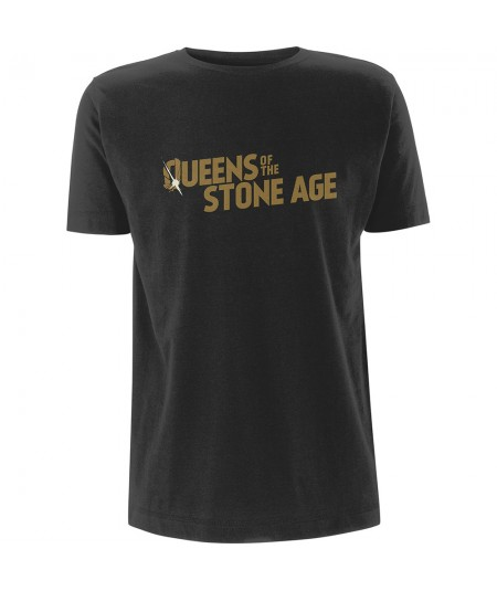 Tricou Unisex Queens Of The Stone Age: Metallic Text Logo
