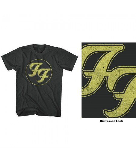 Tricou Unisex Foo Fighters: Distressed FF Logo