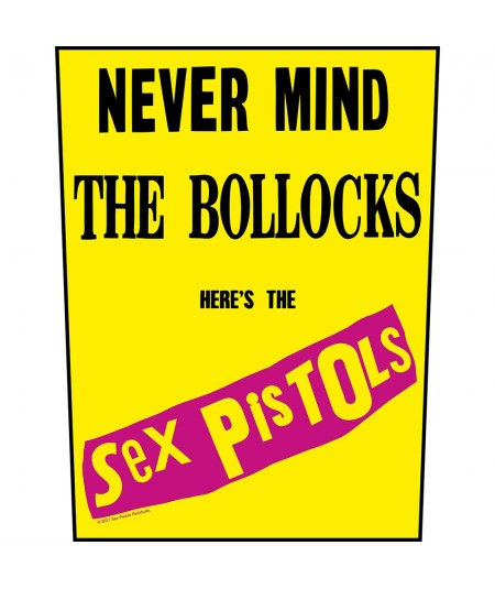 Back Patch The Sex Pistols: Never Mind The Bollocks Yellow Background