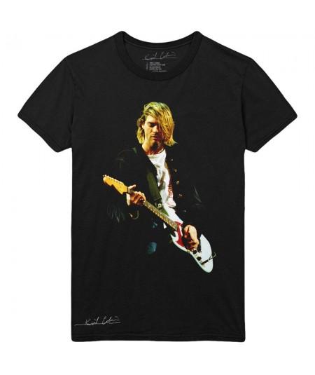 Tricou Unisex Kurt Cobain: Guitar Photo Colour