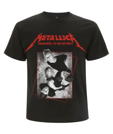 Tricou Unisex Metallica: Hardwired Band Concrete
