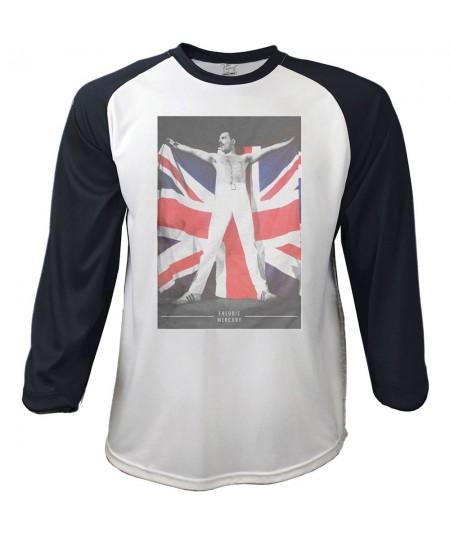Tricou Maneca 3/4 Freddie Mercury: Flag