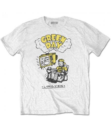 Tricou Unisex Green Day: Longview Doodle