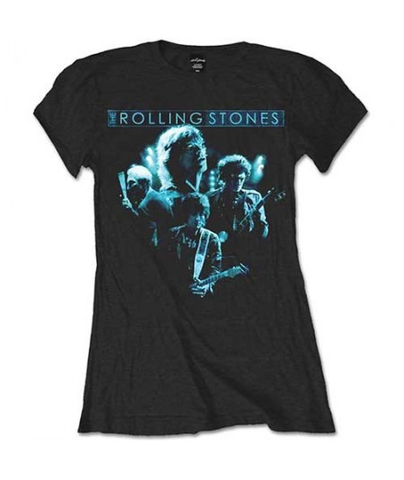 Tricou Dama The Rolling Stones: Band Glow