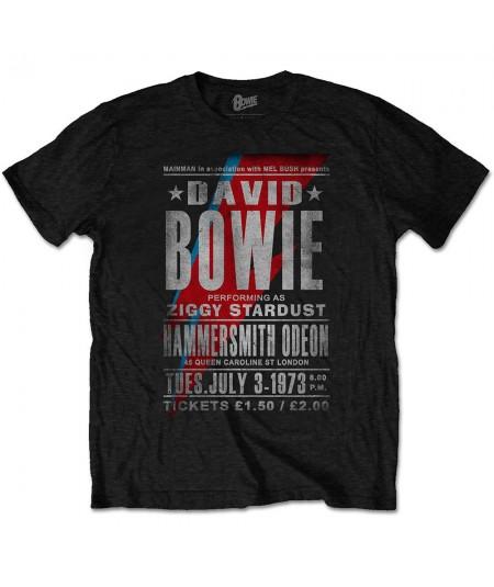 Tricou Unisex David Bowie: Hammersmith Odeon
