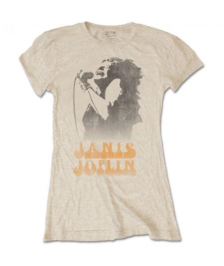Tricou Dama Janis Joplin: Working The Mic