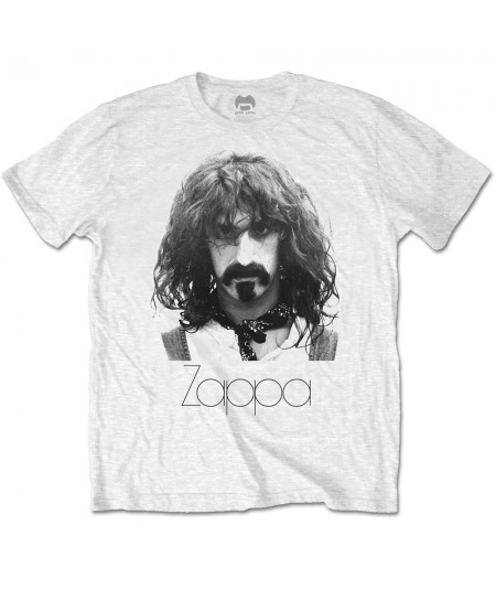 Tricou Unisex Frank Zappa: Thin Logo Portrait