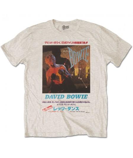 Tricou Unisex David Bowie: Japanese Text
