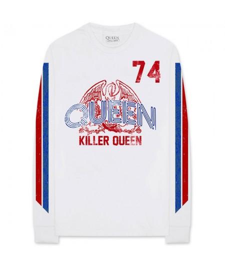 Tricou Maneca Lunga Queen: Killer Queen '74 Stripes