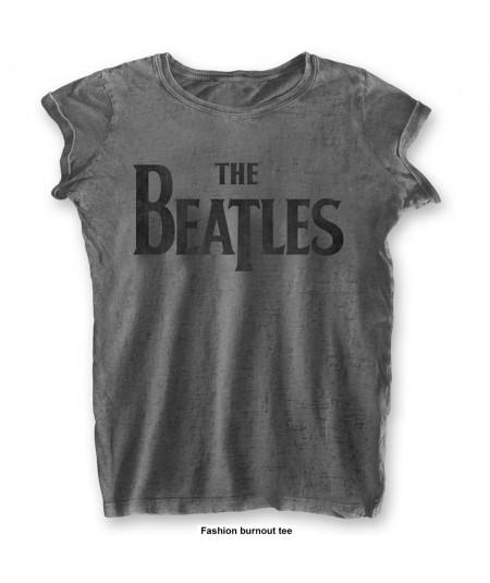 Tricou Burn Out de Dama The Beatles: Drop T Logo