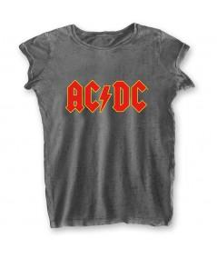 Tricou Burn Out de Dama AC/DC: Logo