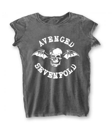 Tricou Burn Out de Dama Avenged Sevenfold: Deathbat