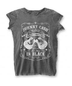 Tricou Burn Out de Dama Johnny Cash: The Man In Black