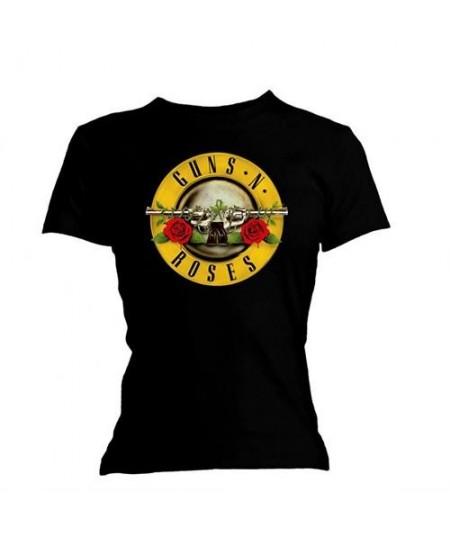 Tricou Dama Guns N' Roses: Classic Bullet Logo