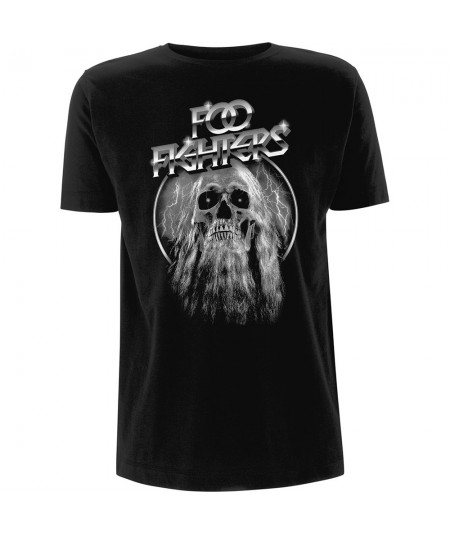 Tricou Unisex Foo Fighters: Bearded Skull
