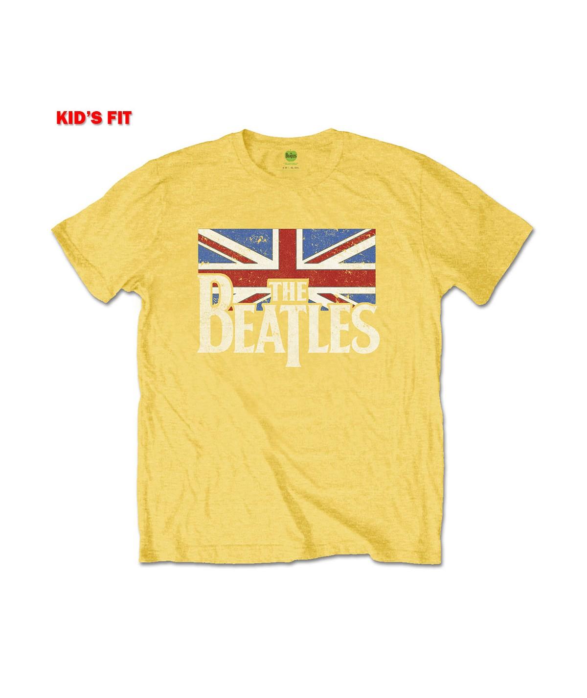Tricou Copil The Beatles: Logo & Vintage Flag