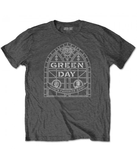 Tricou Unisex Green Day: Stained Glass Arch