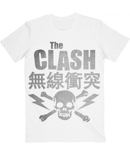 Tricou Unisex The Clash: Skull & Crossbones