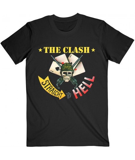 Tricou Unisex The Clash: Straight To Hell Single
