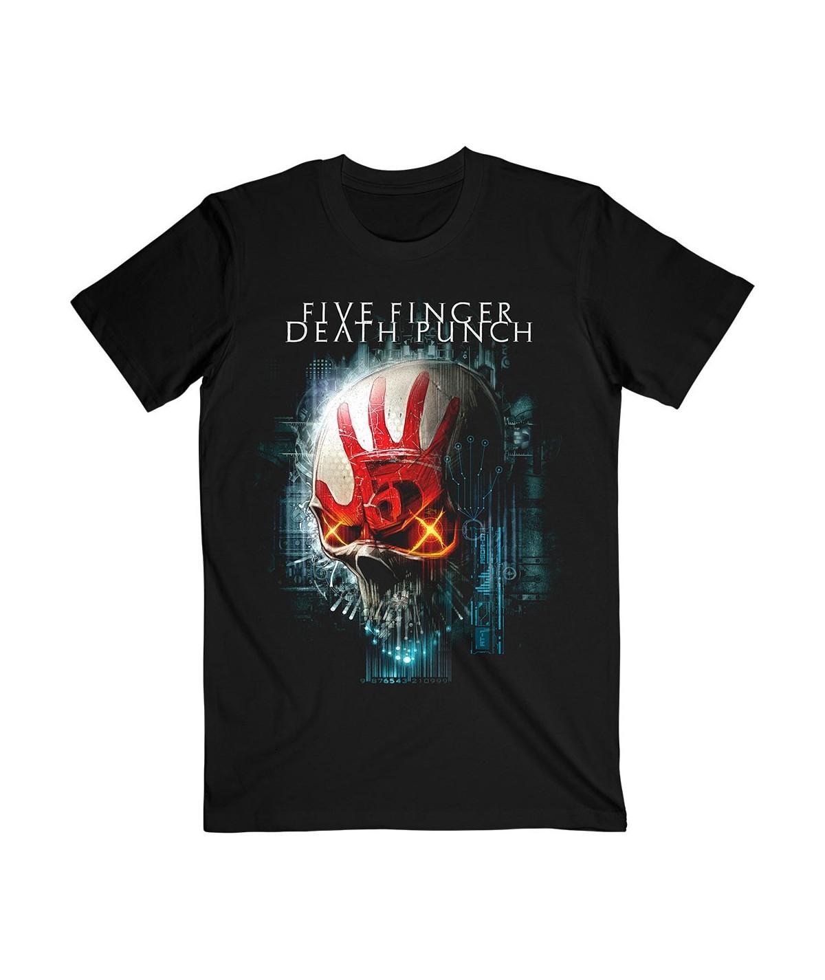 Tricou Unisex Five Finger Death Punch: Interface Skull