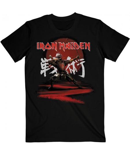 Tricou Unisex Iron Maiden: Senjutsu Eddie Archer Kanji